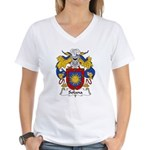 Solana Family Crest Women's V-Neck T-Shirt
