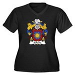 Solana Family Crest Women's Plus Size V-Neck Dark