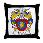 Solana Family Crest Throw Pillow