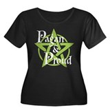 Pagan and Proud Women's Plus Size Scoop Neck Dark