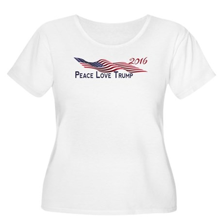 Peace Love Trump 2016 Plus Size T-Shirt