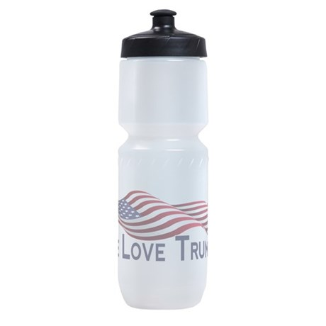 Peace Love Trump 2016 Sports Bottle