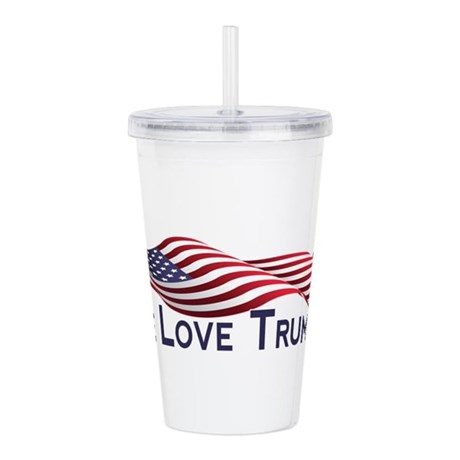 Peace Love Trump 2016 Acrylic Double-wall Tumbler