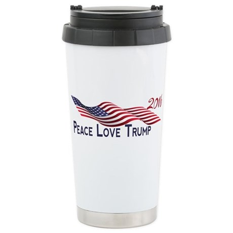 Peace Love Trump 2016 Travel Mug