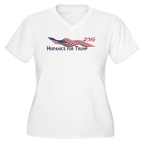 Hispanics for TRUMP 2016 Plus Size T-Shirt