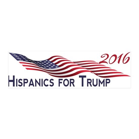 Hispanics for TRUMP 2016 Wall Decal
