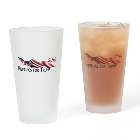 Hispanics for TRUMP 2016 Drinking Glass