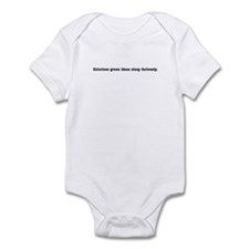 "Chomsky ""Colorless Green"" Onesie"