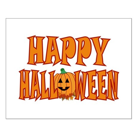 Happy Halloween Pumpkin Small Poster