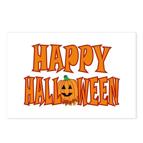 Happy Halloween Pumpkin Postcards (Package of 8)