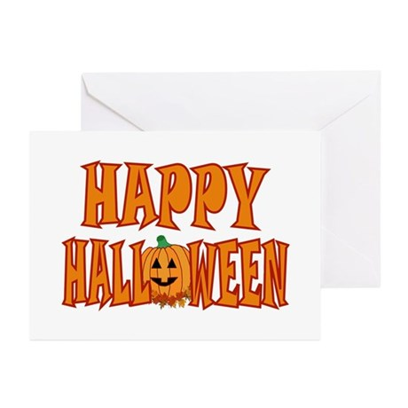 Happy Halloween Pumpkin Greeting Cards (Pk of 20)