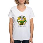 Sagasta Family Crest Women's V-Neck T-Shirt