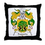 Sagasta Family Crest Throw Pillow
