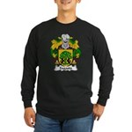 Sagasta Family Crest Long Sleeve Dark T-Shirt