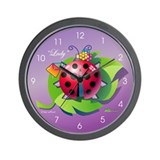 """Lady"" Bug Wall Clock"