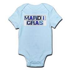 Mardi Gras Tiles (White) Infant Creeper