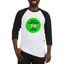 70th Birthday - Happy Birthda Baseball Jersey