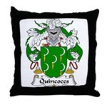 Quincoces Family Crest Throw Pillow