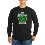 Quincoces Family Crest Long Sleeve Dark T-Shirt