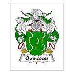 Quincoces Family Crest Small Poster