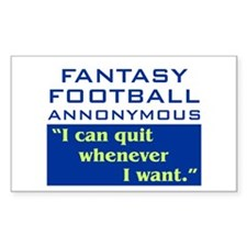 Fantasy Football Annonymous Rectangle Decal