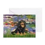 Lilies (2) & Cavalier (BT) Greeting Card