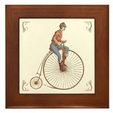 Vintage Ordinary Bike Framed Tile