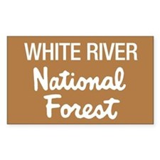 White River (Sign) National F Sticker (Rectangular
