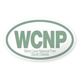 Wind Cave National Park Oval Decal