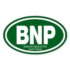 Badlands National Park Oval Decal
