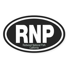 Redwood National Park Oval Decal