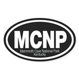 Mammoth Cave National Park Oval Decal