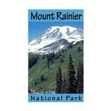 Mount Rainier NP (Vertical) Rectangle Decal