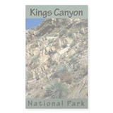 Kings Canyon NP (Vertical) Rectangle Decal