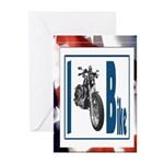 I Bike Greeting Cards (Pk of 10)