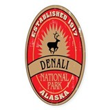 Denali National Park Oval Decal