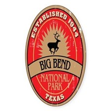 Big Bend National Park Oval Decal