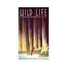 1930s Vintage Wildlife WPA Poster Decal
