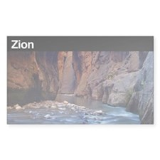Zion National Park Sticker (Rectangu