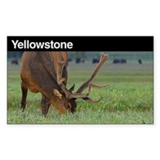 Yellowstone National Park Sticker (Rectangu