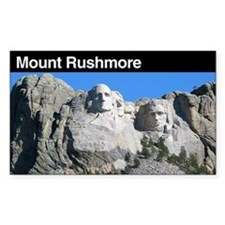 Mount Rushmore National Memor Sticker (Rectangular