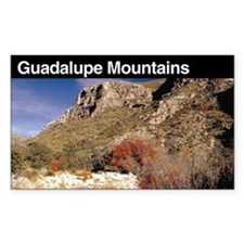 Guadalupe Mountains National Sticker (Rectangular
