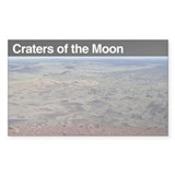 Craters of the Moon National Sticker (Rectangular