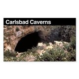 Carlsbad Caverns National Par Sticker (Rectangular