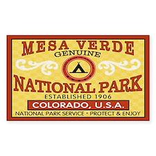 Mesa Verde National Park Rectangle Decal