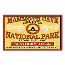 Mammoth Cave National Park Rectangle Decal