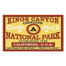 Kings Canyon National Park Rectangle Decal
