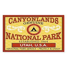 Canyonlands National Park Rectangle Decal