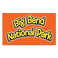 Big Bend National Park (Cartoon) Sticker (Rectangu