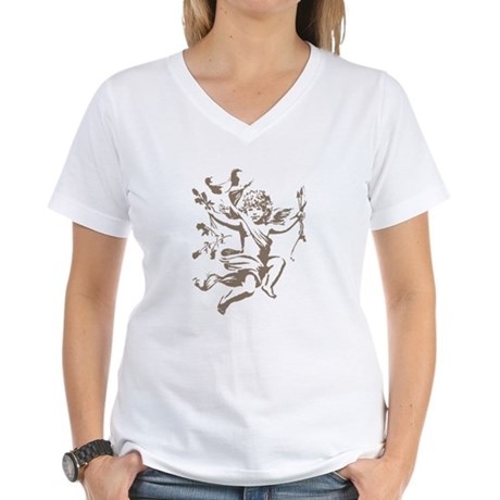 Vintage Cupid Women's V-Neck T-Shirt
